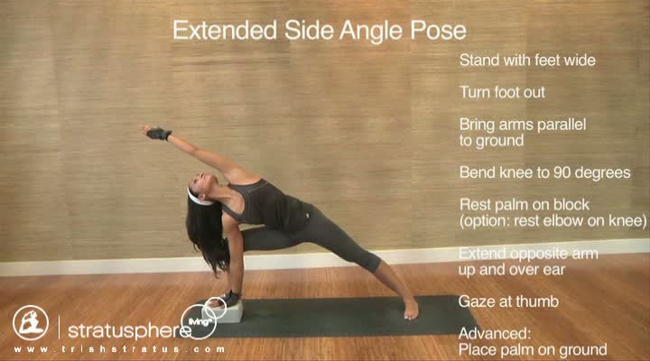 Stratusphere Yoga DVD: Extended Side Angle Pose