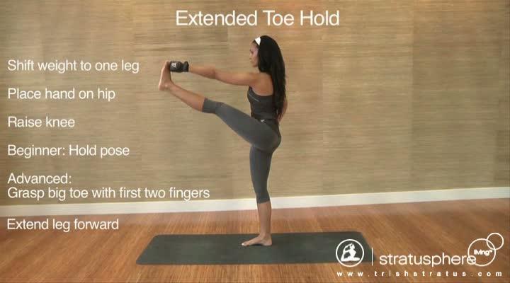 Stratusphere Yoga DVD: Extended Toe Hold