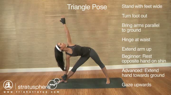 Stratusphere Yoga DVD: Triangle Pose