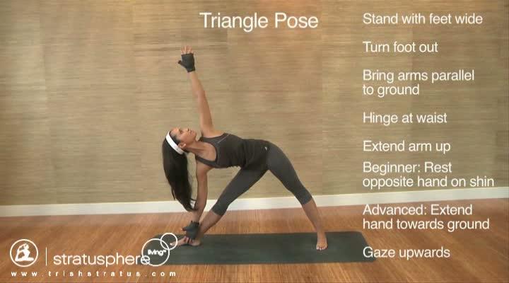 Stratusphere Yoga DVD: Triangle Pose
