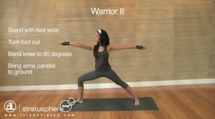 Stratusphere Yoga DVD: Warrior II