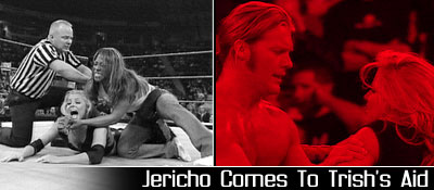 1/5 RAW Results: Jericho Comes to Trish's Aid