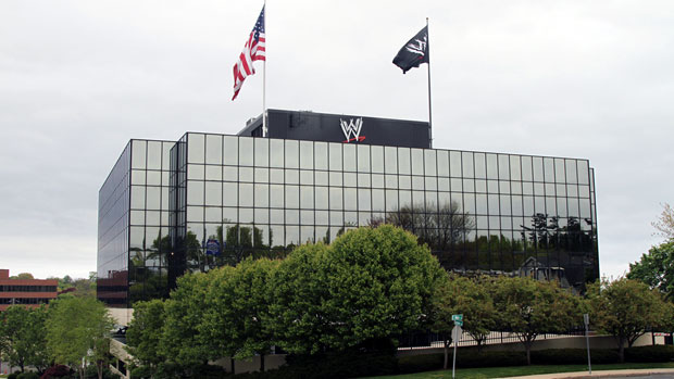 Trish at WWF headquarters...