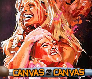 The Trish & Lita rivalry comes alive in painting
