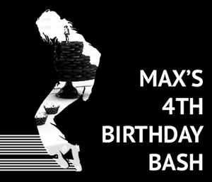 A black & white piano themed party with a hint of Michael Jackson: Max's 4th birthday bash