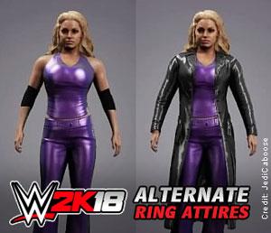 Trish picks top fan created ring attire in WWE 2K18