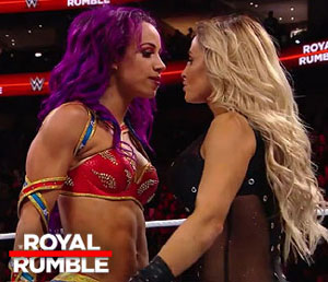 BREAKING: Trish surprises and is a part of the first-ever women's Royal Rumble match
