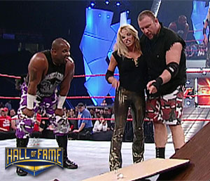 The mayors of Dudleyville join Trish in the WWE HOF