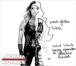 Exclusive: The making of Trish Stratus' Royal Rumble ring attire
