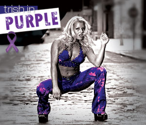 Trish in purple