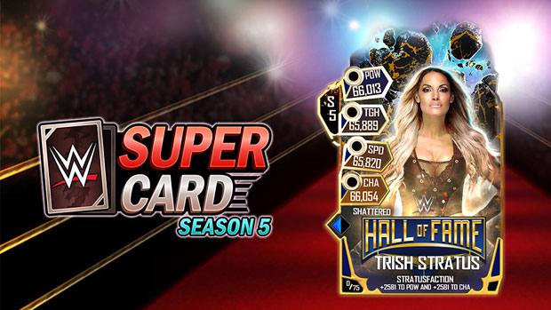 WWE SuperCard adds new HOF Trish card to Season 5