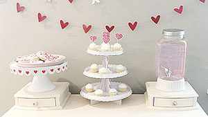 A Valentine's Day party: Trish shares some tips and tricks