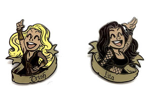 Limited edition Trish & Lita pin set sells out during WrestleMania Axxess