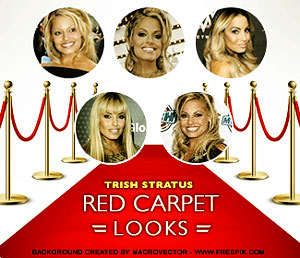 Trish's red carpet looks