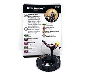 Closer look: Trish Stratus WWE HeroClix figure