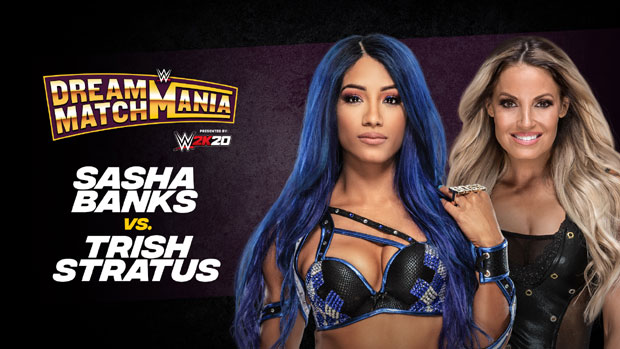 Trish Stratus and Sasha Banks face off in WWE Dream Match Mania