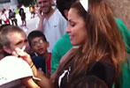 Trish Stratus signs autographs for young Stratuspherians
