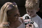 Fox 2 News Detroit - Trish Stratus visits 7-Eleven (Apr 2002)