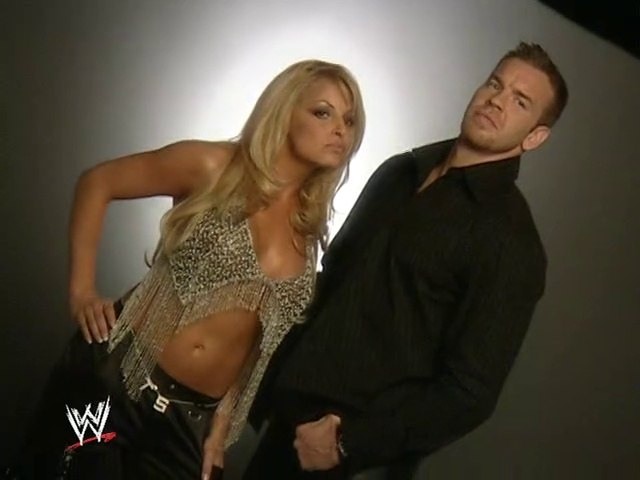 Christian & Trish Stratus shoot cover of Raw Magazine