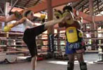 Trish Stratus Muay Thai training
